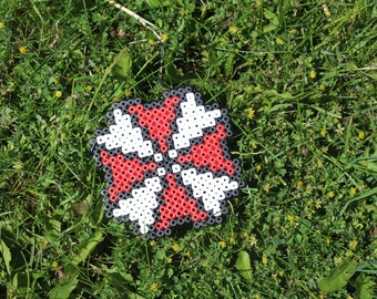 Pixel Art / Bead sprite Umbrella Corporation Logo (Resident Evil)
