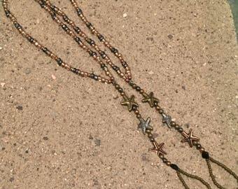 Bronze starfish barefoot
