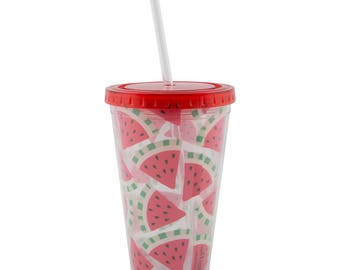 Watermelon Drinks Cup with Straw