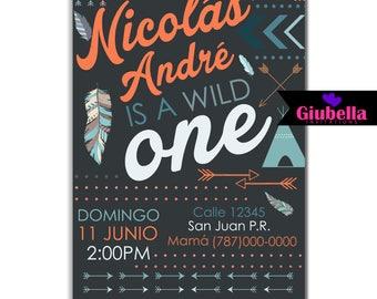 A Wild One Digital Invitation