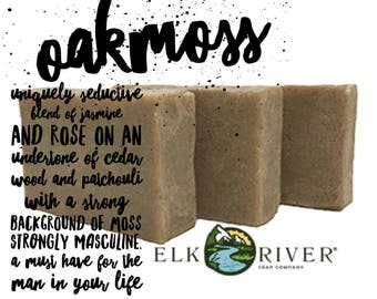 FREE SHIPPING Oakmoss Handmade Soap