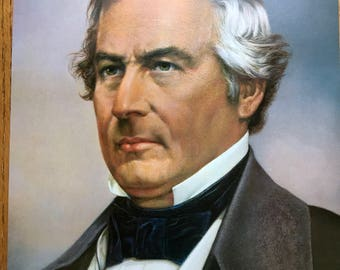 13th president millard fillmore color portrait 11 x 14 published in 1972