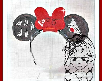 PaPERPLANE Heart Kiss Inspired (3 Piece) Mr Miss Mouse Ears Headband ~ In the Hoop ~ Downloadable DiGiTaL Machine Emb Design by Carrie