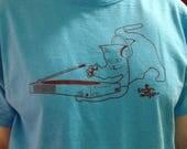 Large DJ Cat Aqua Mens Tshirt sale
