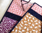 Japanese Tenugui Quilted Placemats - set of 4 - no.6