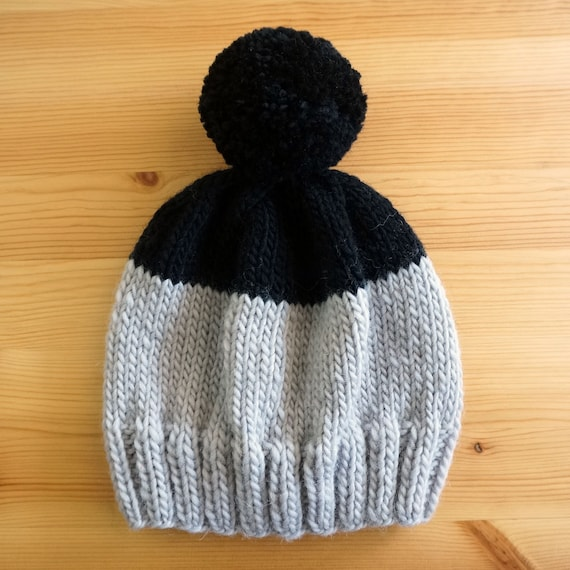 SALE!! Weekender Beanie in Gray & Black - Ready to Ship