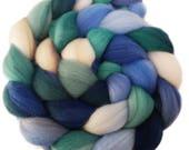 CTA SAL Pre-Order - Handpainted Polwarth Wool Roving - 4 oz. DENALI - Spinning Fiber