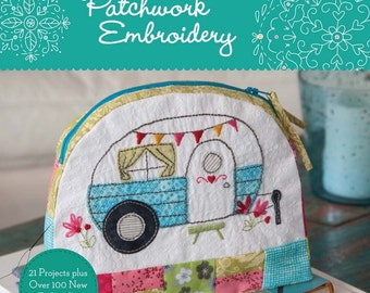 SALE! Patchwork Embroidery craft pattern book by Aimee Ray Doodle Stitching