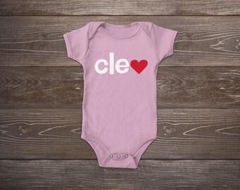 Cleveland Love Baby Onesie