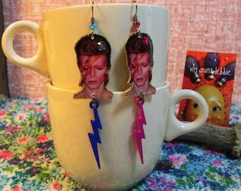 David Bowie earrings ziggy stardust