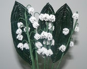 Lily of The Valley French Beaded Flowers