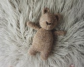 READY TO SHIP Brambles Bear custom handknit prop