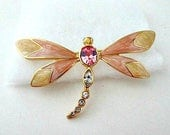 Kenneth Jay Lane Avon 1990 Nature's Treasure Dragonfly Pin AS IS / Vintage Jewelry Bouquet Supply
