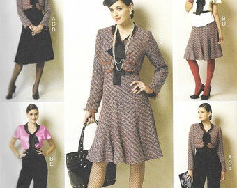 Butterick 5859 - JACKET, BLOUSE & High Waist SKIRT and Pants - Sewing Pattern - Sizes 6-8-10-12-14 - Uncut