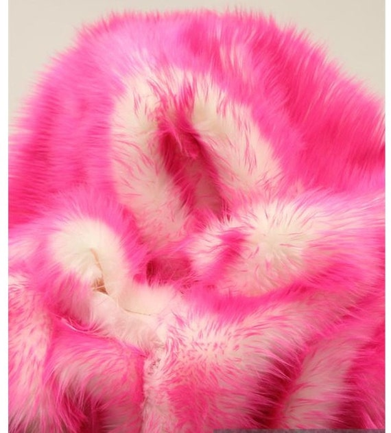 Fake Cotton Candy: Pink Pussy Faux Fur Kitty Hat Cotton Candy Shaggy Pink Pussy
