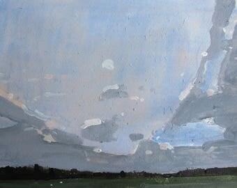 Passage, Original Spring Landscape Painting on Paper, Stooshinoff