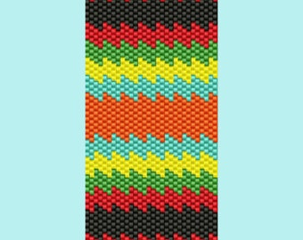 Spanish Fiesta Bracelet Bead  Pattern PEYOTE
