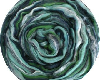Merino Wool and Silk Blend Top - MINT 50g 100g