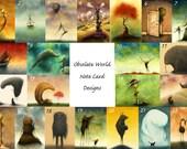 Set Of Obsolete World Fine Art Note Cards