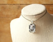 Serious Rhinestone Bling Faceted Rockstar Pendant