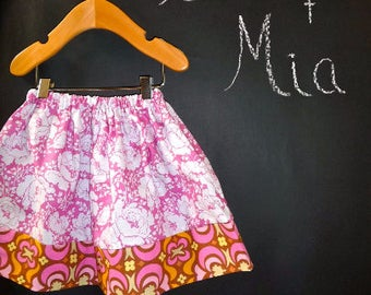 Sample SALE - Will fit Size 6-12 month up to a 2T - Ready to MAIL - SKIRT - Orange and Pink - by Boutique Mia
