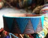 Handmade leather cuff (smaller width)