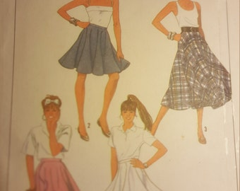 Simplicity 9954 circle skirt sewing pattern size 6-10 by im.butterflycreations