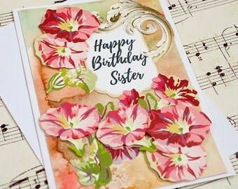 Sister Birthday Card, Birthday Card for Sister, Sister in Law Card, Birthday Card for Her, Birthday Gift For Her, Handmade Birthday