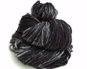 Midnight, Hand Dyed, Bulky, Yarn, Black