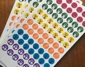 Adulting Achievements Sticker Sheet, Bullet Journal, Planner, Circle Stickers
