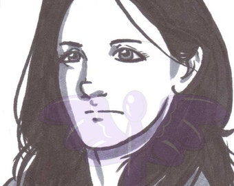 Jessica Jones, Artist Trading Card, ACEO, art card, Original art, Ink, Marker, OOAK