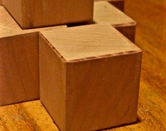 Slightly Smaller Cherry Blocks - 12 Wood Toys