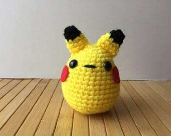 Fatty Pikachu Amigurumi Doll - Pikachu Plushie
