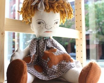 Esme: soft handmade cloth doll