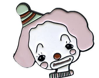 Mr. Bubbles the clown - enamel pin 1.25 inch