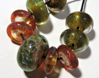 Lampwork Borosilicate Beads MEADOW Two Sisters Designs 02101A