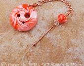 Orange Swirl Spinner's DIZ and Threader Set - No 2 - ORIGINAL CONVEX - On Sale