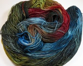 Hand Dyed Superwash Merino and Nylon 4-Ply Sock Yarn (Explicit Content) -- FUCK 2016 (see listing details for special offer)