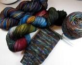 Hand Dyed Superwash Merino and Nylon 4-Ply Sock Yarn (Explicit Content) -- FUCK 2016