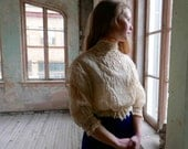 Edwardian Romantic Lace Blouse XS