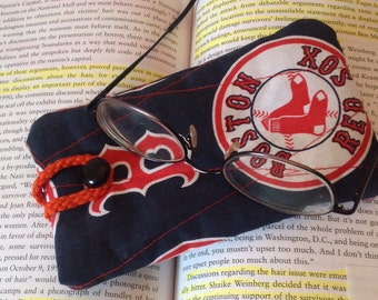 Quilted Eyeglass Case - Red Sox
