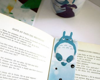 Totoro shaped bookmark - illustrated laminated bookmark