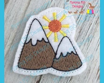 Mountains Feltie Machine Embroidery Design File