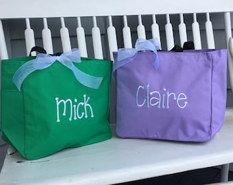 Monogrammed Tote Bag Personalized - Children Baby Girl Dance Birthday Party Favor Gift