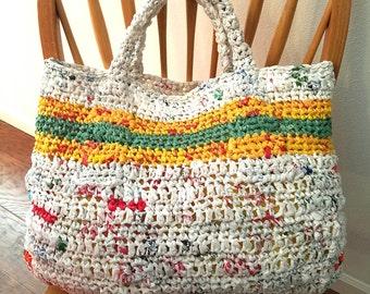 Plarn Tote Bag from Plastic Grocery Bags, Market Bag, Beach Bag