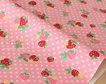 Japanese Fabric Atsuko Matsuyama Candy Strawberry - pink - 50cm