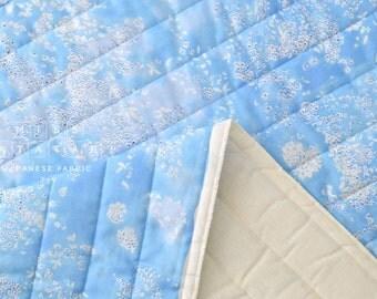 Nani Iro Kokka Japanese Fabric Lei nani quilted double gauze - For beautiful corolla - spring rain - 50cm