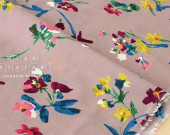 Japanese Fabric Chiffon Dobby floral - dusty pink - 50cm