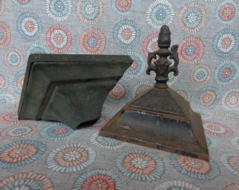 Vintage Salvage Old Lamp Parts Pieces for Restoration Repurpose Metal Crafts