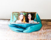 Personalized Photo Clutch with Metal Clasp for Bridesmaid- Custom Wedding Clutch for the Bride or Bridesmaid- 32 Colors Available